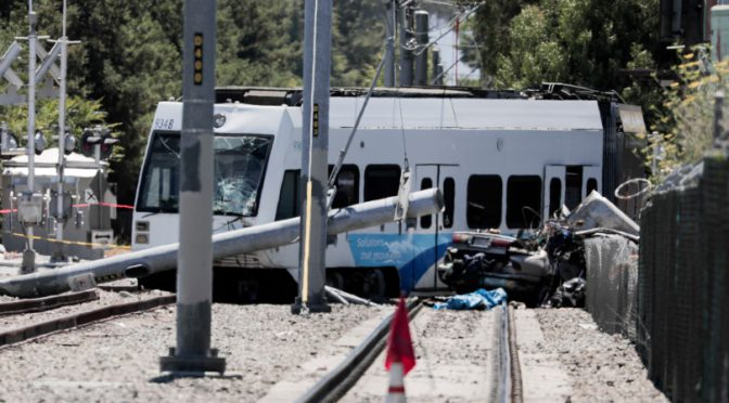 San Jose: Two People Dead After Light-Rail Train, Car Collide