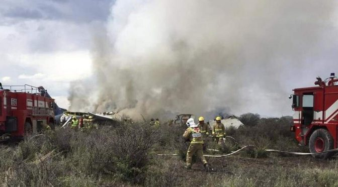 Jet Crashes Just After Takeoff In Durango, Mexico