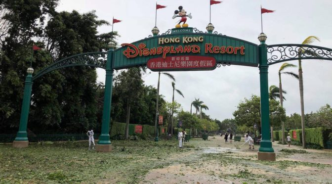 Photos: Hong Kong Disneyland takes severe hit from Super Typhoon Mangkhut