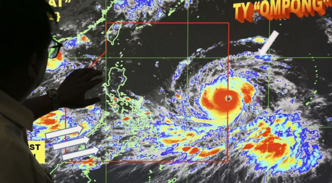 Super Typhoon Mangkhut Threatens Asia With 180mph Winds