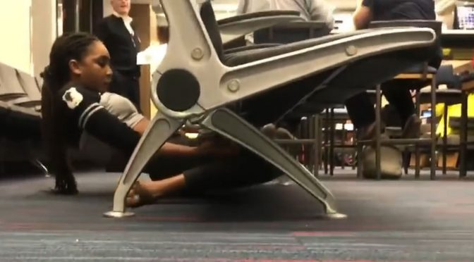 Limbo Trick At Philadelphia Airport Goes Viral