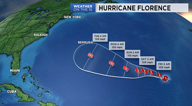 Risk Of Florence Becoming Hurricane Rising As It Approaches East Coast