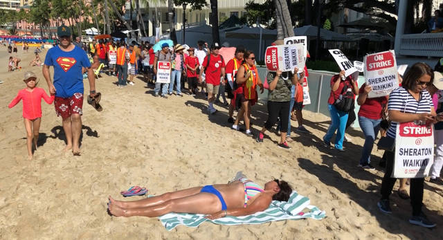 Strike At Waikiki Hotel Prompts Lawsuit From Couple On Honeymoon