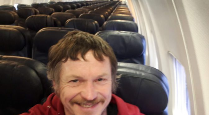 Lithuanian man flies alone on huge plane to Italy