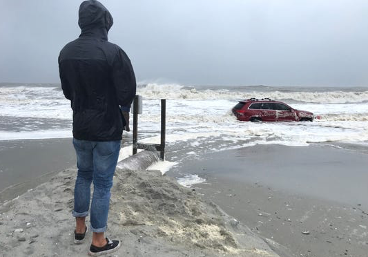 "Myrtle Beach residents flock to see ""the Jeep"" after Hurricane Dorian"