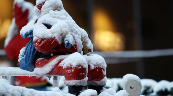 Temperatures drop, bringing snow and ice warnings, but it doesn't mean we'll have a white Christmas