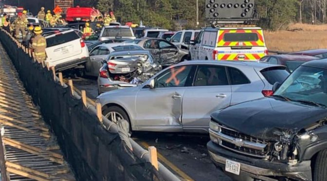 Police: 63-vehicle pileup in Virginia results in injuries