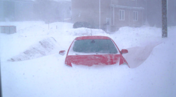 Cars Buried in St John's During Newfoundland 'Snowmaggedon'