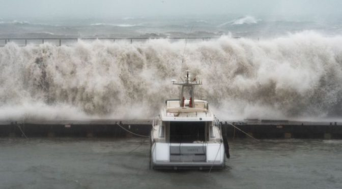 IBIZA STORM GLORIA sweeps BRITISH MAN out to sea. search/rescue  continues.