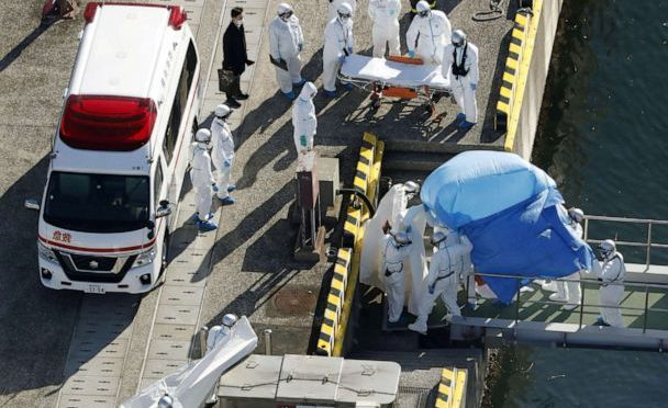 10 people on cruise ship in Japan have tested positive for the coronavirus