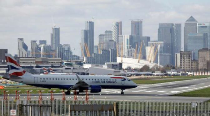 London City Airport welcomes first flight in three months after COVID lockdown
