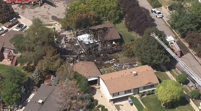A plane crashed in a Utah neighborhood, killing three people and setting a woman on fire in her home