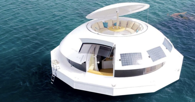 You Can Rent This Floating Party Pod That Can Sail Around the World With 12 People