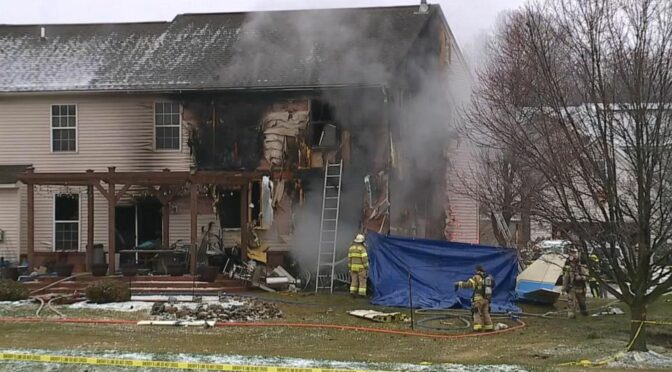 Small plane slams into home on New Year's Day