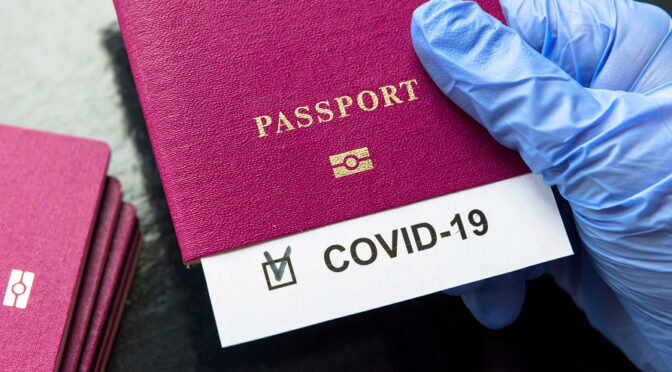 COVID vaccination passport may be needed for future travel