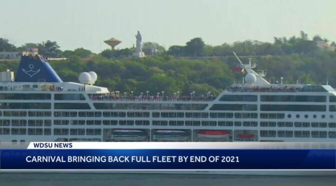 Carnival Cruise lines preparing to return to operations in New Orleans